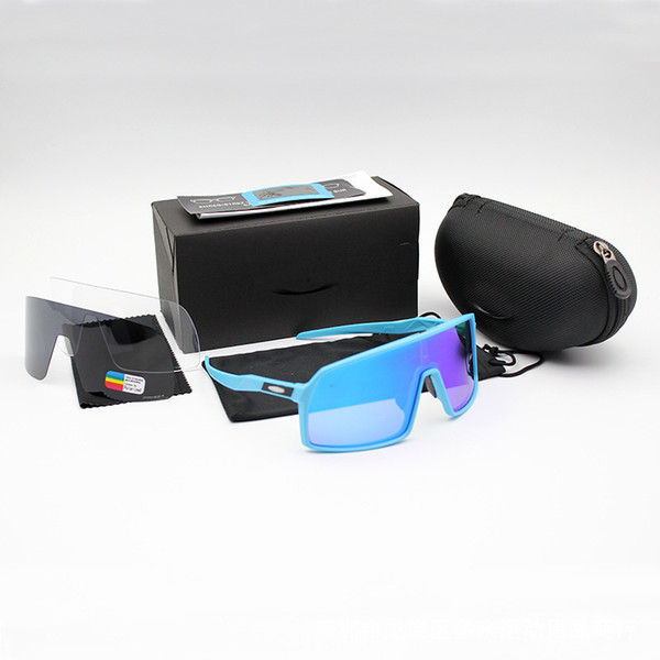 best selling Wholesale-OO9406 Cycling Eyewear Sutro Men Polarized TR90 Sunglasses Outdoor Sport Running Glasses 8 Colorful,Polariezed,Transparent len