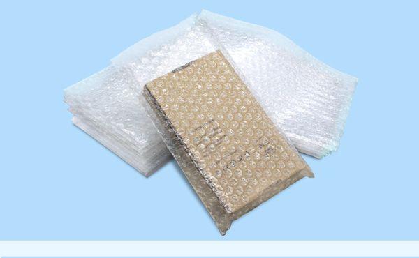 100PCS Plastic Wrap Envelope white Bubble packing Bags PE clear bubble bag Shockproof bag double film