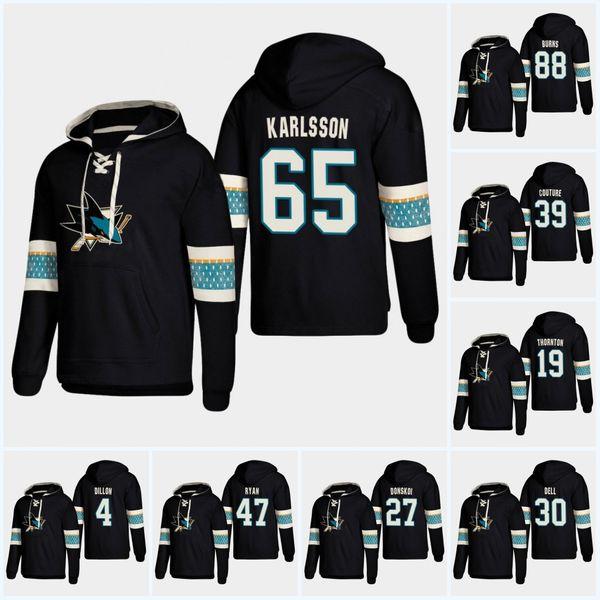 65 Erik Karlsson San Jose Sharks 2019 New Stlye Hoodie Brent Burns Evander Kane Joe Thornton Logan Couture Joe Pavelski Timo Meier Hoodei