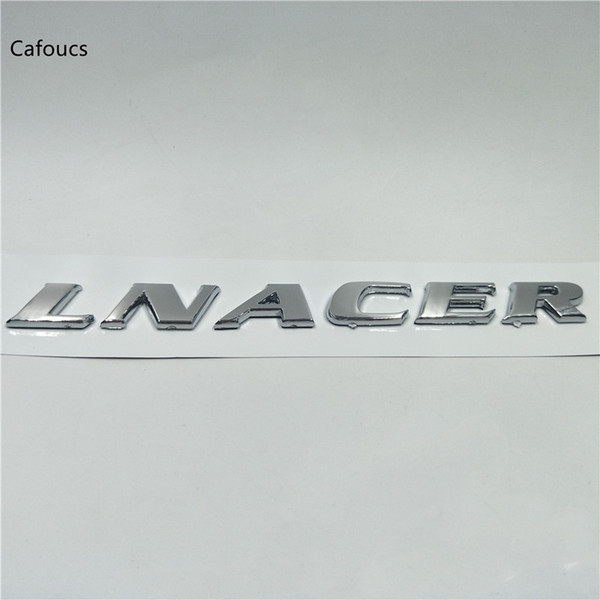 For Mitsubishi LANCER 10 Rear Trunk Lid Chrome Emblem Badge Logo Car Accessories
