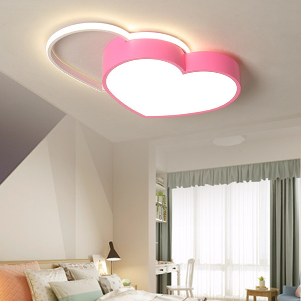 2019 Children\'S Bedroom Led Pink Heart Shaped Ceiling Lamps Lights  Restaurant Living Roomh Lighting Lamp Symbolizes Love From Rangcy2008,  $109.8 | ...