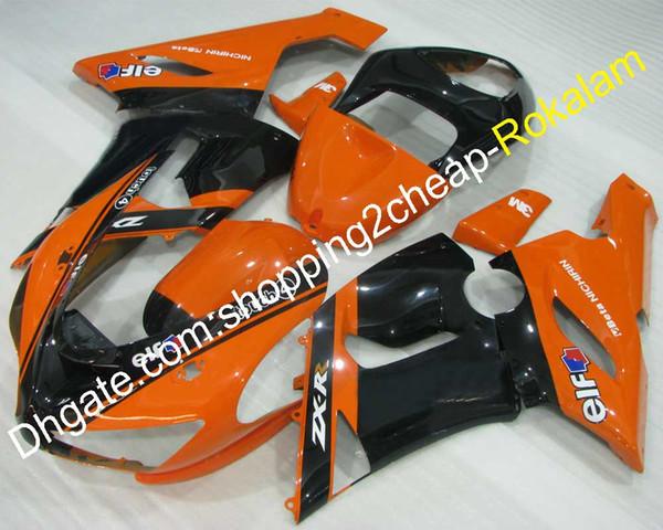 2005 2006 ZX 6R Kit de carenado para Kawasaki Ninja 363 ZX-6R 05 06 ZX6R Motocicleta ABS Plástico Naranja Negro Juego de carenados (moldeo por inyección)