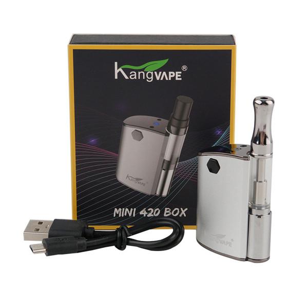 Kostenlose DHL 100% Original Kangvape Mini 420 Box Kit 400 mAh VV Batterie Mini TH-420 Mod 0,5 ml 510 Vape dicke Ölpatronen Tank