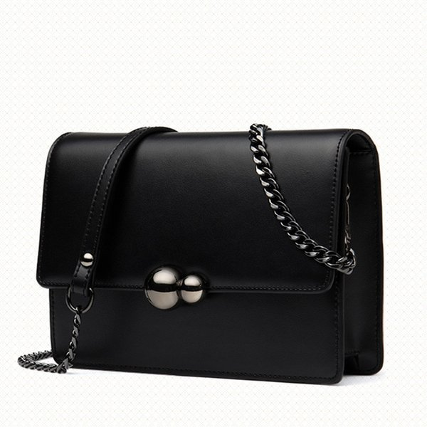 Dusa2019 Women's Bag Chain Singles Span Ma'am Single Shoulder Woman Genuine Leather Small Square Package