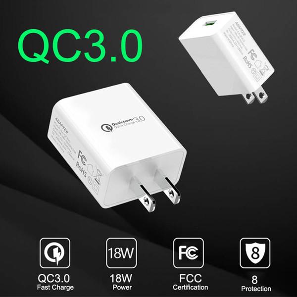 QC3.0 Cargador de pared de carga rápida USB 5V3A Cargador de viaje universal de carga rápida para Samsung Xiaomi Huawei iPhone XS Max