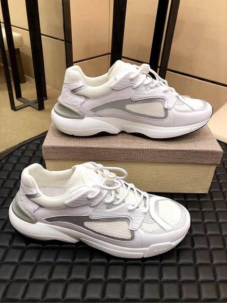 с коробкой 2019 мужская и женская Повседневная обувь втройне понятно, единственный белый черный зеленый бренд дизайнер тренеры 38-45