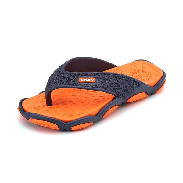 Novo super macio bottom-secagem rápida dos homens flip-flops à prova d 'água antiderrapante personalidade ao ar livre chinelos sapatos de praia