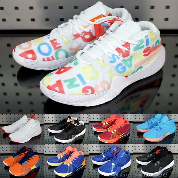New Giannis Antetokounmpo Zoom Anormal 1 Fiba Grécia laranja que vem a América Assinatura tênis de basquete esporte Designer Sneakers Tamanho 40-46