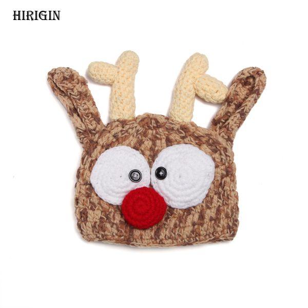 Newly Newborn Crochet Knit Cute Skullies Beanies Baby Boys Girls Pom Beanie Caps
