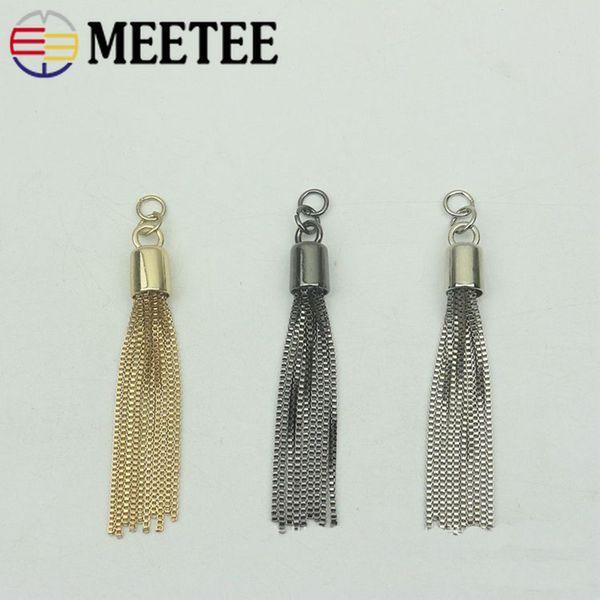 Meetee 95mm metal joyería borla colgar hebilla llavero cadena borla tapón colgante gancho DIY bolsa hardware accesorios