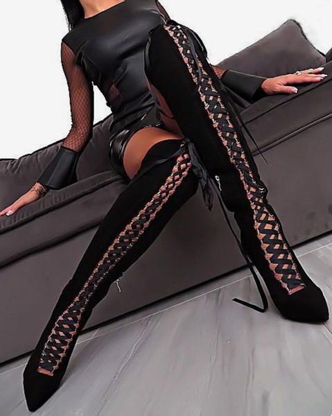 vista previa de último estilo de 2019 mejor calidad Compre Sexy2019 Joom European Star Fund Chalaza High Ayuda Overknee Cool  Woman Boots Zapatos De Mujer Extranjero A $74.96 Del Chagall | DHgate.Com