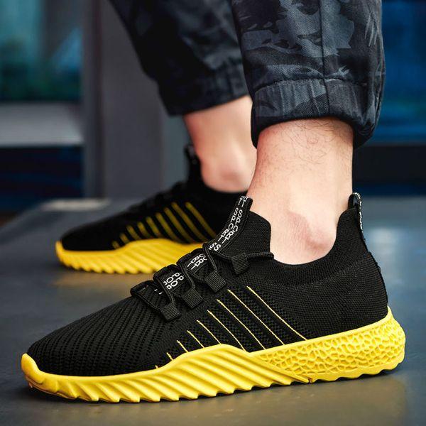 MUQGEW çizgili Yaz flats sneaker erkek ayakkabı Moda Hollow Mesh Nefes Sneakers Kaymaz Aşınmaya Dayanıklı Sneakers chaussure