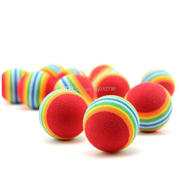 best selling Diameter 35mm interesting Pet Toy dog and cat Toys Super cute Rainbow Ball toy Cartoon plush toy A106