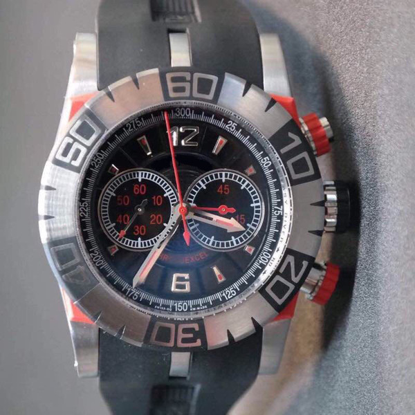 TF automatic 7750 mechanical movement, stainless steel case, transparent, man, silica gel strap, folding buckle, sapphire crystal glass
