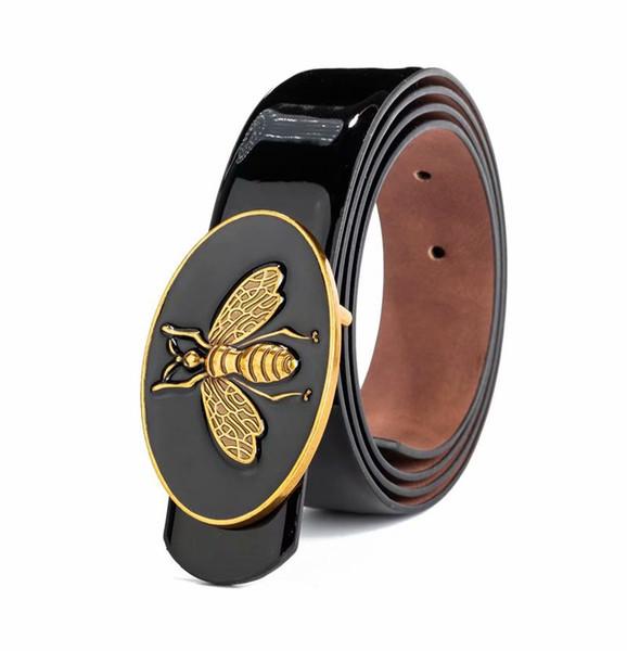 New personality men bee pattern metal buckle belt men leather belt western cowboy style belt gift to men