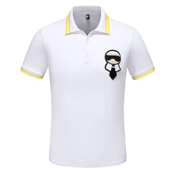 056 2019 Summer T-shirt Tee High Street Little Bee Printing Embroidery Fashion Clothing Polo Shirt Men Shirts Size M-3XL