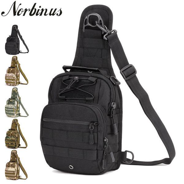 Norbinus 2018 Men's Shoulder Handbag Military Chest Bag Sling Pack Tactical Crossbody Bags For Men Waterproof Nylon Belt Bags Y19062003