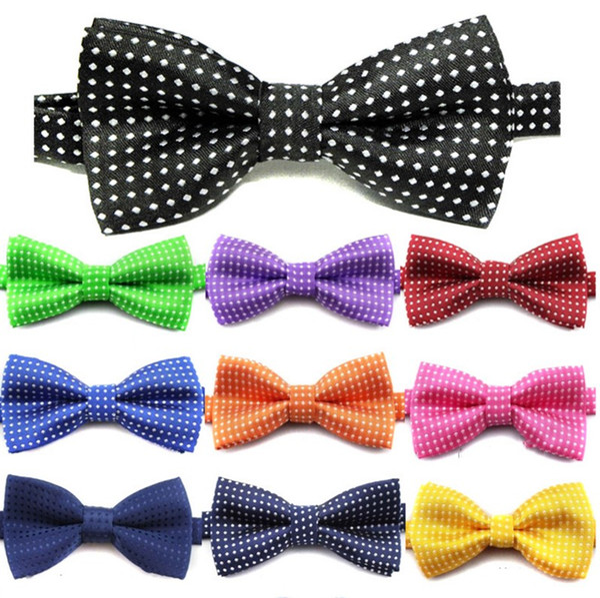 Kinder binden formale Fliege Kinder klassische Punktnormallackbindung formalen Partei-Baby Krawatten
