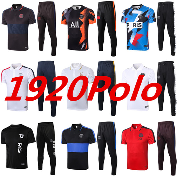 top popular 2020 2021 Paris soccer polo mbappe cavani tracksuit 19 20 psg air Jordam X Survetement football jacket Polo training suit sportswear kit 2020