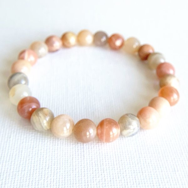 Wholesale A Grade Flower Sunstone Bracelet Natural Gem Stone Spiritual Yoga Prayer Stretch Bracelet Womens Wrist Tibetan Jewelry