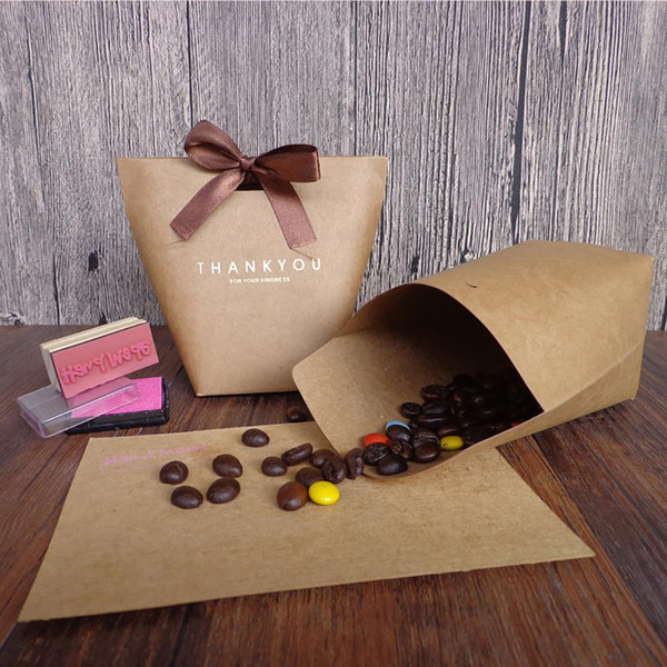 5Pcs Bowknot Thank You Candy Bags Wedding Gift Box Package Birthday Party Favor Hot