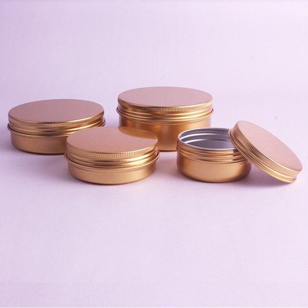 50g 60g Top Quality Cream Refillable Metal Aluminum Jar Tin Screw Thread Cosmetic Lip Balm Mask Ointment Containers 50pcs/lot