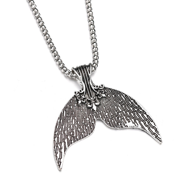 New Design Animal Fashion Women Necklace Whale Tail Fish Nautical Charm Mermaid Tails Necklaces Jewelry N1357