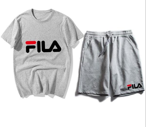 Новые Моды для женщин мужчины Повседневные футболки из двух частей Спортивные костюмы шорты с коротким рукавом пара спортивный костюм унисекс футболка и короткие брюки # 42507