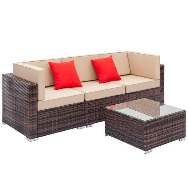 Superb 2019 Outdoor Conversation Set Rattan Furniture Sectional Sofa Sets Executive Guest Reception Chairs Patio Furniture All Weather From Jessielmy Caraccident5 Cool Chair Designs And Ideas Caraccident5Info