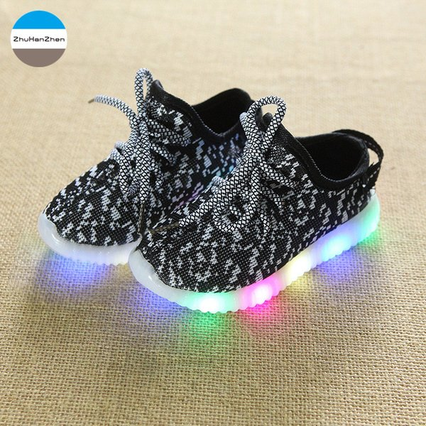 2019 1 To 10 Years Old LED Lighted Baby Boys And Girls Non-Slip Fashion kids Sneakers Children Casual Shoes Soft Bottom Shoes