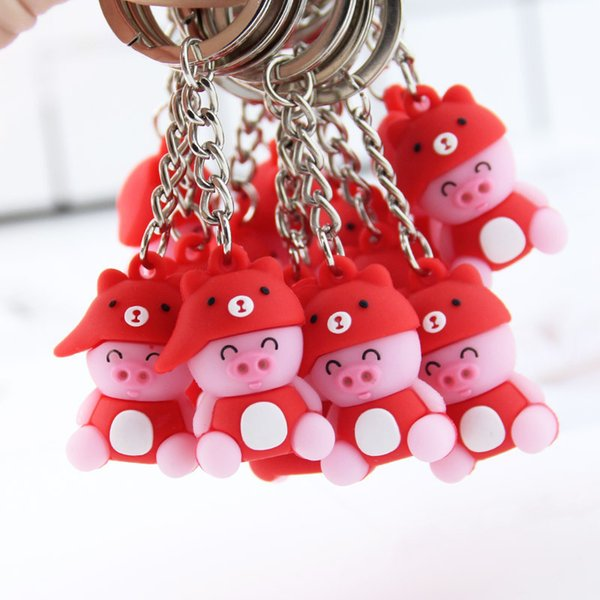 Cartoon Animal Key Holder Cute Funny Pig Keychains Creative Kids Toys Key Rings Bag Pendant Jewelry