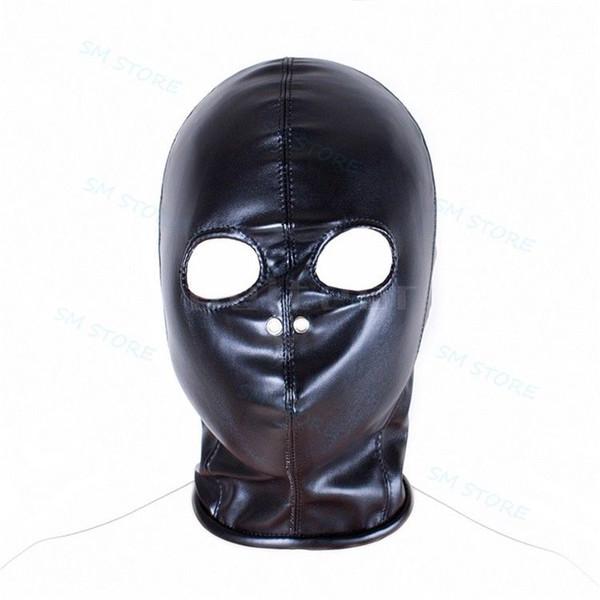 Тело жгут дышащий открытыми глазами нос капот Маска черный искусственная кожа ролевая игра #R78