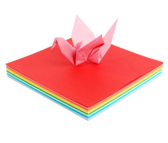 A4 80g de papel hecho a mano para niños papel de color cuadrado material de origami jardín de infantes papel color de rosa