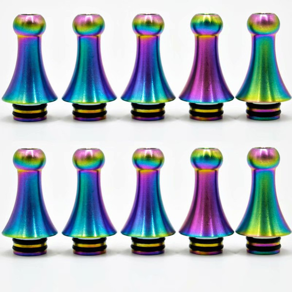 top popular Newest Colorful 510 Drip Tip Mouth Holder Wide Bore Mouthpiece Fit Vaporizer TFV8 BABY Tank TFV12 Baby Prince Atomizer Hot Sale DHL Free 2021