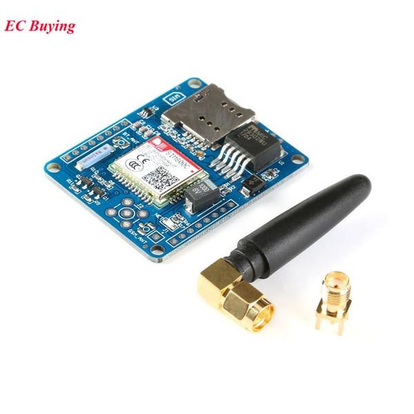 Freeshipping 5PCS SIM800C Development Board Quad-Band GSM / GPRS Module Supports etooth/ TTS/ DTMF Alternative SIM900A Glue Stick Antenna