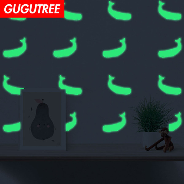 Decorate Home Diy whale cartoon art glow wall sticker decoration Decals mural painting Removable Decor Wallpaper G-573
