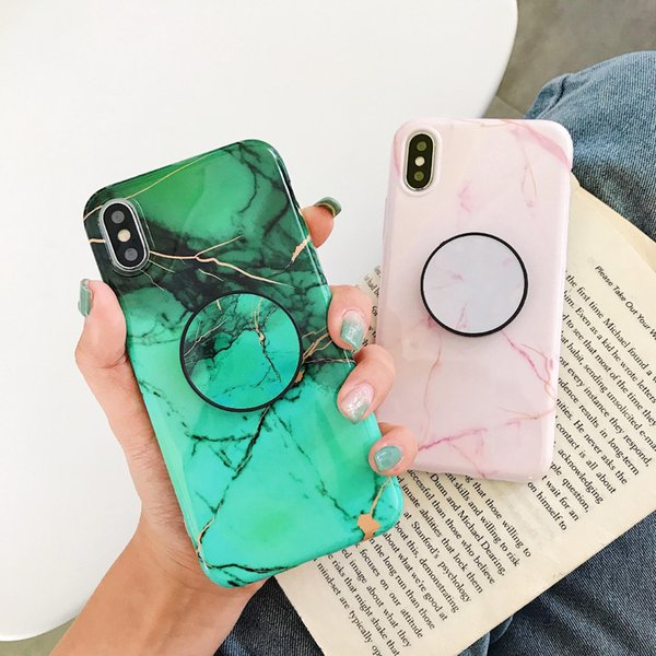 New Cell Phones 2020.2020 New Cell Phone Cases Green Pink Marble Stylish With Bracket Soft Tpu Xr Tpu Pc Protector For Iphone X Xs Xr Xs Max 6 6s 7 7p 8 8plus Leather