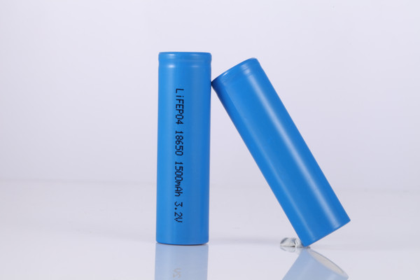 High quality 18650 1500mAh 3.2V Rechargeable LiFePO4 cell Battery for solar lighting and Power supply products