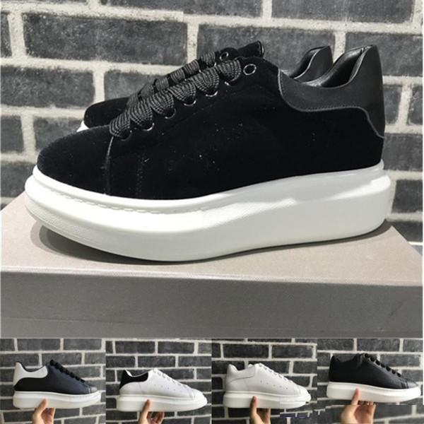 Femmes velours noir Hommes Chaussures Chaussures Belle plate Sneakers Casual Hot vendre des chaussures en cuir solide Couleurs Chaussures