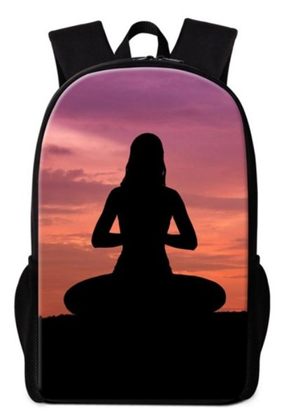 Yoga 3D Printing Children Girls School Bags For Teenage Casual Daily laptop Backpacks GL03
