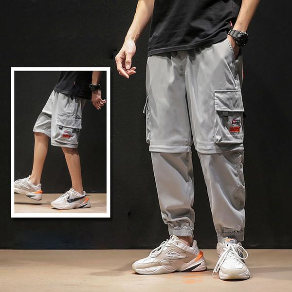 XXXXXL Diseño de gran tamaño Desmontable Pantalones cargo para hombres Bolsillo negro Estilo japonés Baggy Moda Homme Hip Hop Pantalones patrón