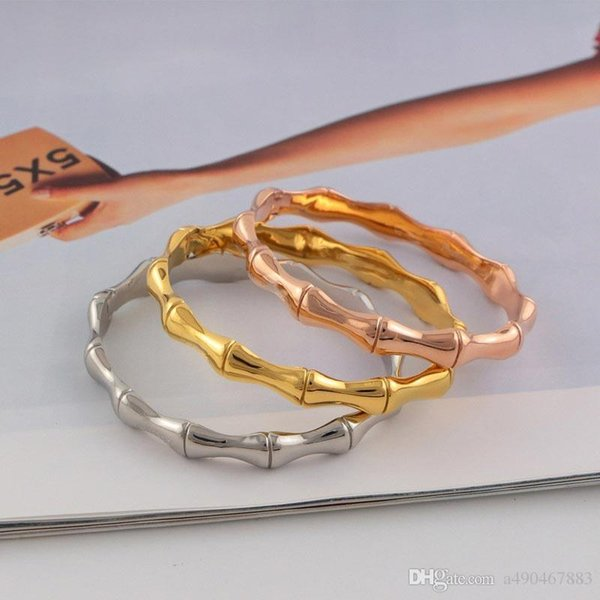 fashion jewerly hot sale famous brand New style 18k rose gold plated 316L titanium steel love bangle bracelet for female couple woman