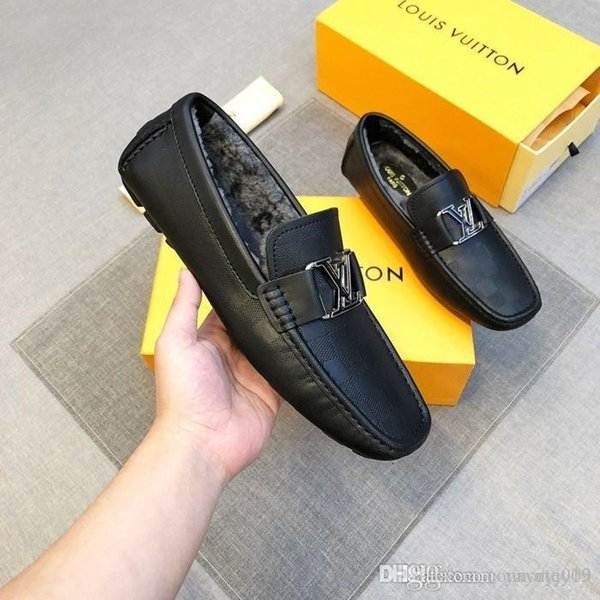 Newst Men s pointed shoes European station fashion business shoes thick bottom increased casual shoes (with box dust bag)