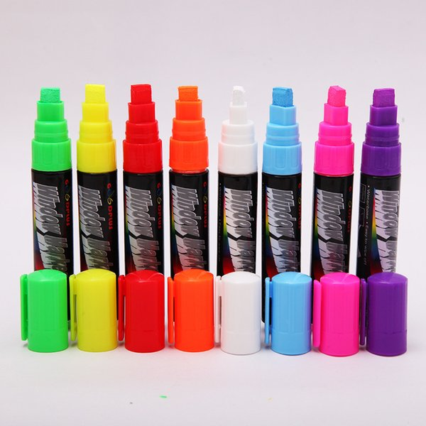 Optional Colorful Erasable Whiteboard Markers Liquid Chalk Marker Pens For Led Board Highlighters