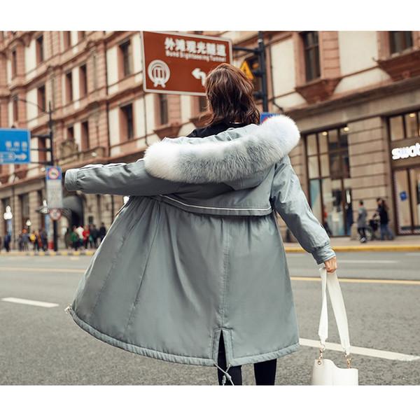 Uzun Aşağı Parka Kış Kalınlaşmak Sıcak 90% Beyaz Ördek Aşağı Palto kadın Rakun Kürk Yaka Ceket Kadın Kapşonlu Sıcak Palto