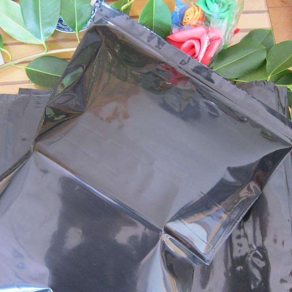 Kilitli Torbalar 50pcs / Ambalaj 20cm * 30cm Siyah Zip Kilit Açılıp kapanabilir Plastik Ambalaj Torbaları Fermuar Top Tutma Mühür Perakende Depolama