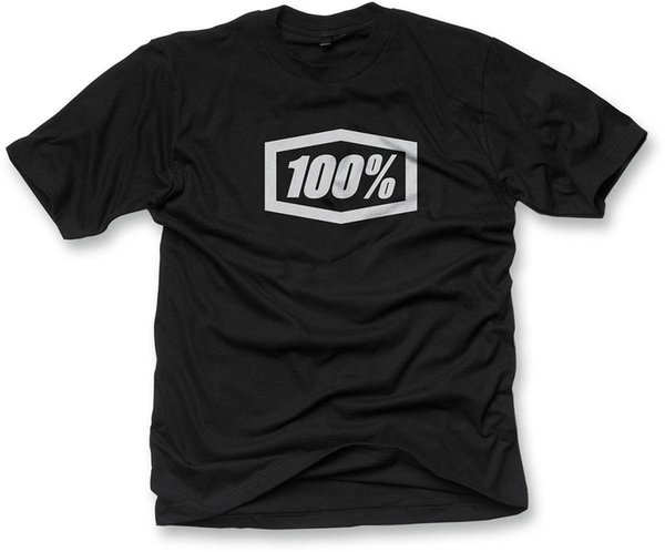 Camiseta 100% Adulto Essential T-Shirt Preto S-2XL