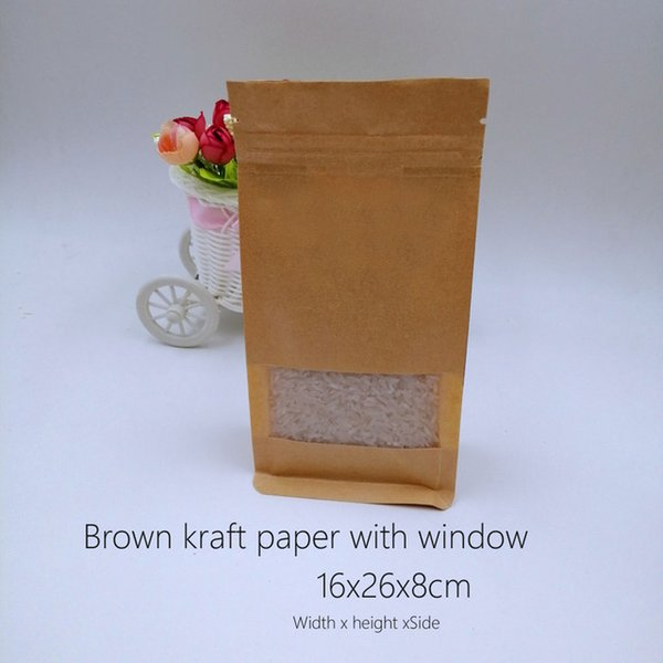 Color:Brown-16x26x8cm&Size:1lot(50pcs)