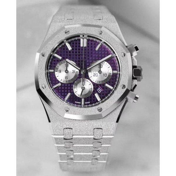 42mm Lüks İzle chronograph otomatik mekanik İzle yüksek kalite Erkekler tasarımcı Saatler Saatı paslanmaz çelik Orologio di Lusso