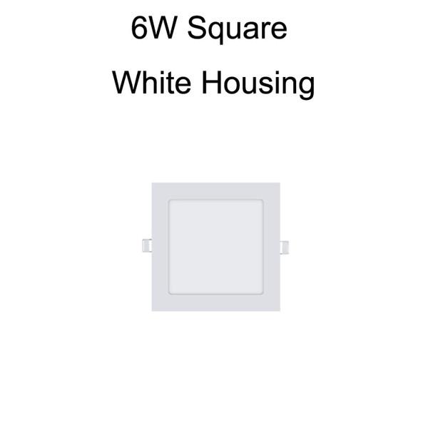 6W Square White Housing